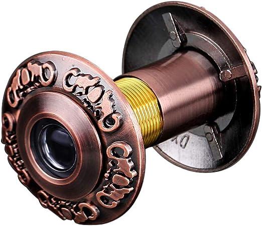 Schwarz OFKPO T/ürspion aus Kupfer,200 Grad Weitwinkel T/ürspion f/ür 35mm bis 55mm T/üren