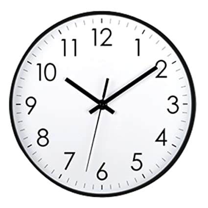 10 Inch Quartz Wanduhr Creative Nordic Simple Fashion Modern Mini Mute Wall  Clock,Black