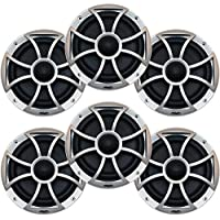 Wet Sounds Bundle: Three pairs of XS 65i Series Black cone Silver Grill 6.5 Speakers - 60 Watts RMS Each