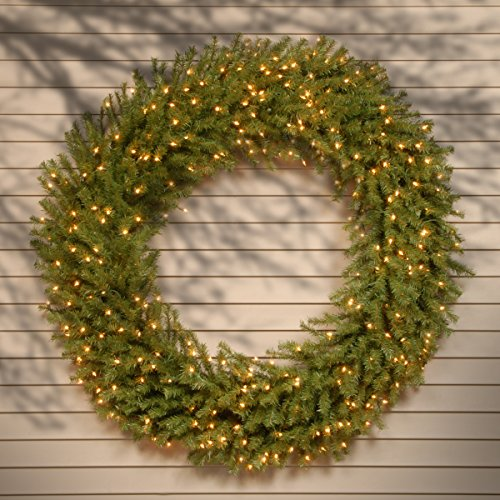 National Tree 60 Inch Norwood Fir Wreath with 300 Clear Lights (NF-60WLO) by National Tree Company (Image #1)