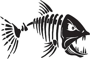 wall Car Laptop Truck boat Fish skeleton Sticker Decal Window