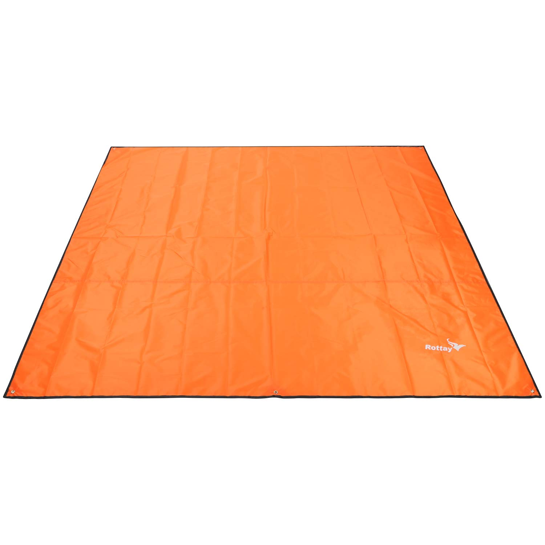 Rottay Waterproof Camping Tarp, Picnic and Beach Mat,Tent Footprint, and Sunshade,Hiking (Orange 87'' x 94'') by Rottay