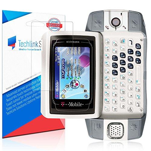TechLink Solutions UltraClear (6-Pack) - Sharp Danger/Sidekick iD Screen Protector / Premium HD Crystal Clear Shield /Anti-Bubble & Anti-Fingerprint PET Film with Lifetime - Protector Sidekick Screen