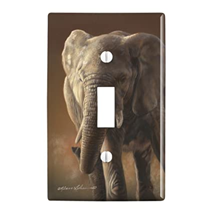 Amazoncom Graphics And More African Elephant Painting Plastic Wall