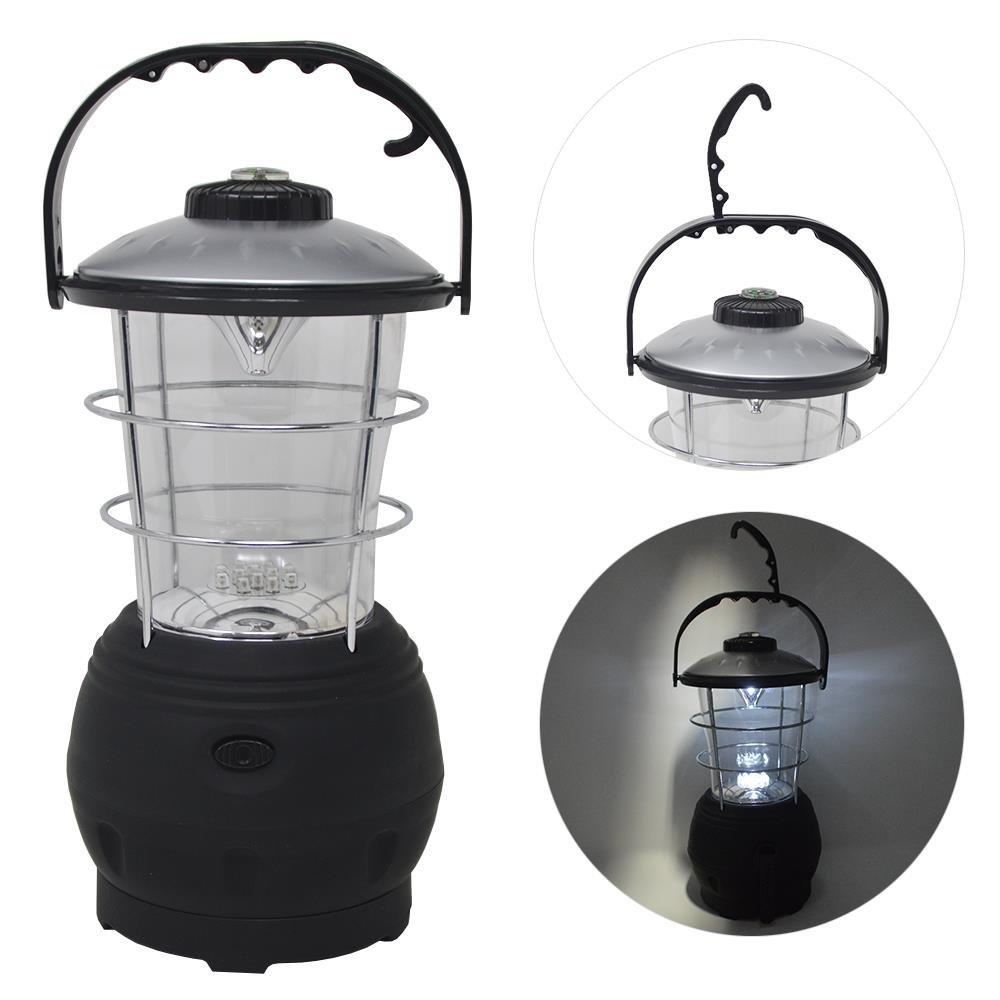 Campinglampe 12 LED Dynamolampe Kurbellampe Zeltlampe Aufziehlaterne Lampe Licht DRULINE