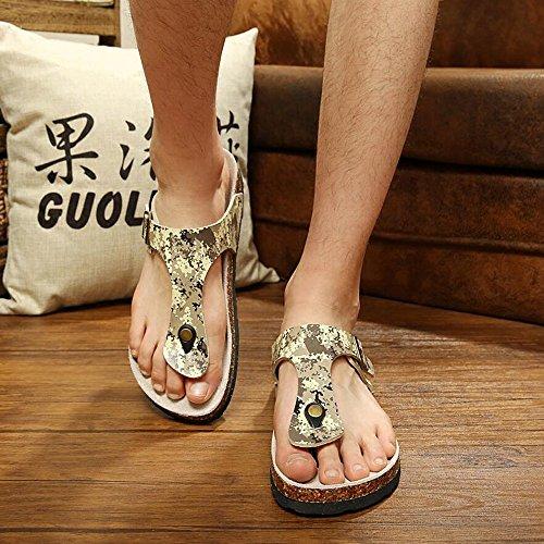 FEI Mädchen Sandalen Männer / Damen kühlen Pantoffeln Sommer England große Hausschuhe Korkpantoffeln Schüler Hausschuhe Rutschfest ( größe : EU39/UK6/CN39 )