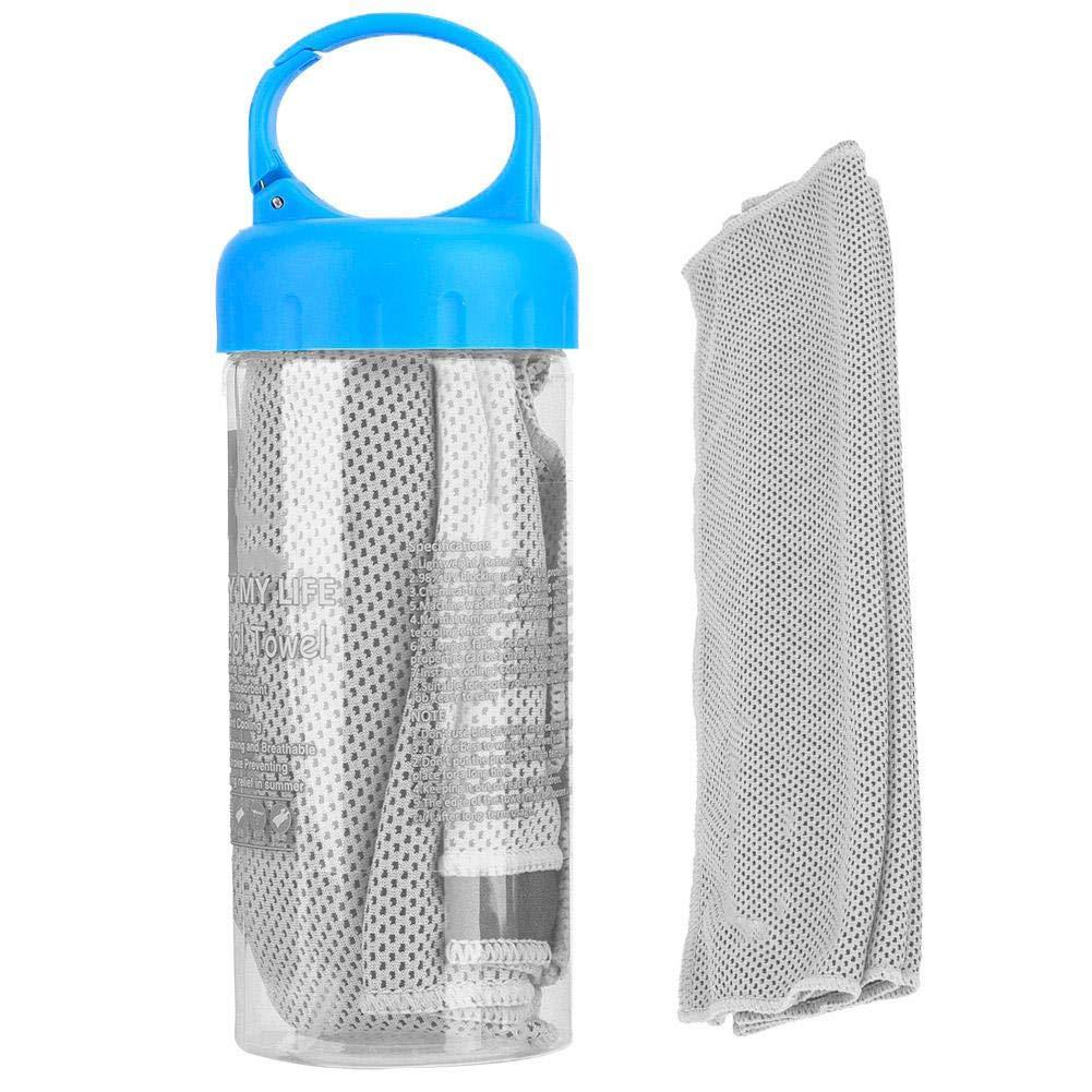 Tihebeyan Toalla de Hielo Deportiva de enfriamiento r/ápido Toalla fr/ía para Gimnasio y al Aire Libre con Botella de Soporte