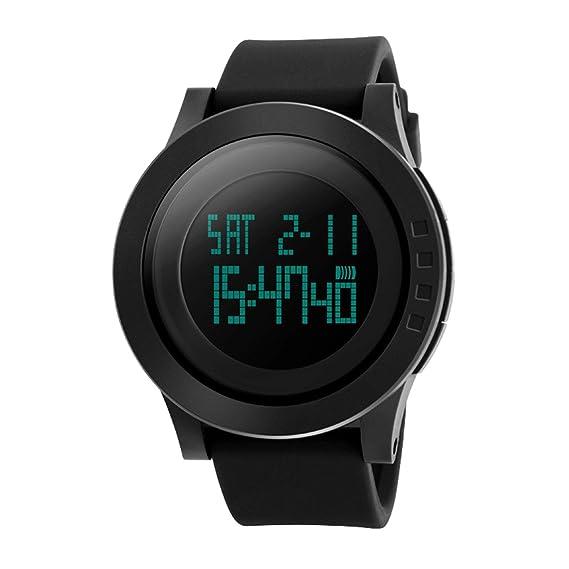 e94a7c1e501e amstt Hombre Reloj Deportivo Joven Reloj de Pulsera Digital Militar 50 m  Agua Densidad Negro Reloj para Hombres  Amazon.es  Relojes