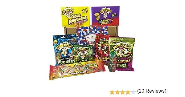 Warheads Caja De Selección De Caramelos Americanos Extremadamente ...