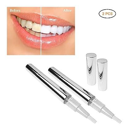 Blanqueamiento de Dientes Mallalah 2PCS Lápiz blanqueante para dientes de Teeth Lápiz Blanqueador Dental Dientes de