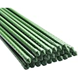 BTSD-home Garden Stakes 4 Ft Steel Plant Stakes Sturdy Tomato Stakes, Pack of 25