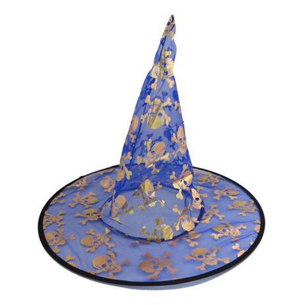 WasonD 4pcs Cosplay Sombreros de Bruja de Disfraces Gorros para Halloween Fiestas para Ni/ños y Adultos Patrones al Azar