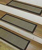 NaturalAreaRugs Margot Sisal Carpet Stair Treads, 100% Natural Sisal, 9-inch x 29-inch (Set of 13)