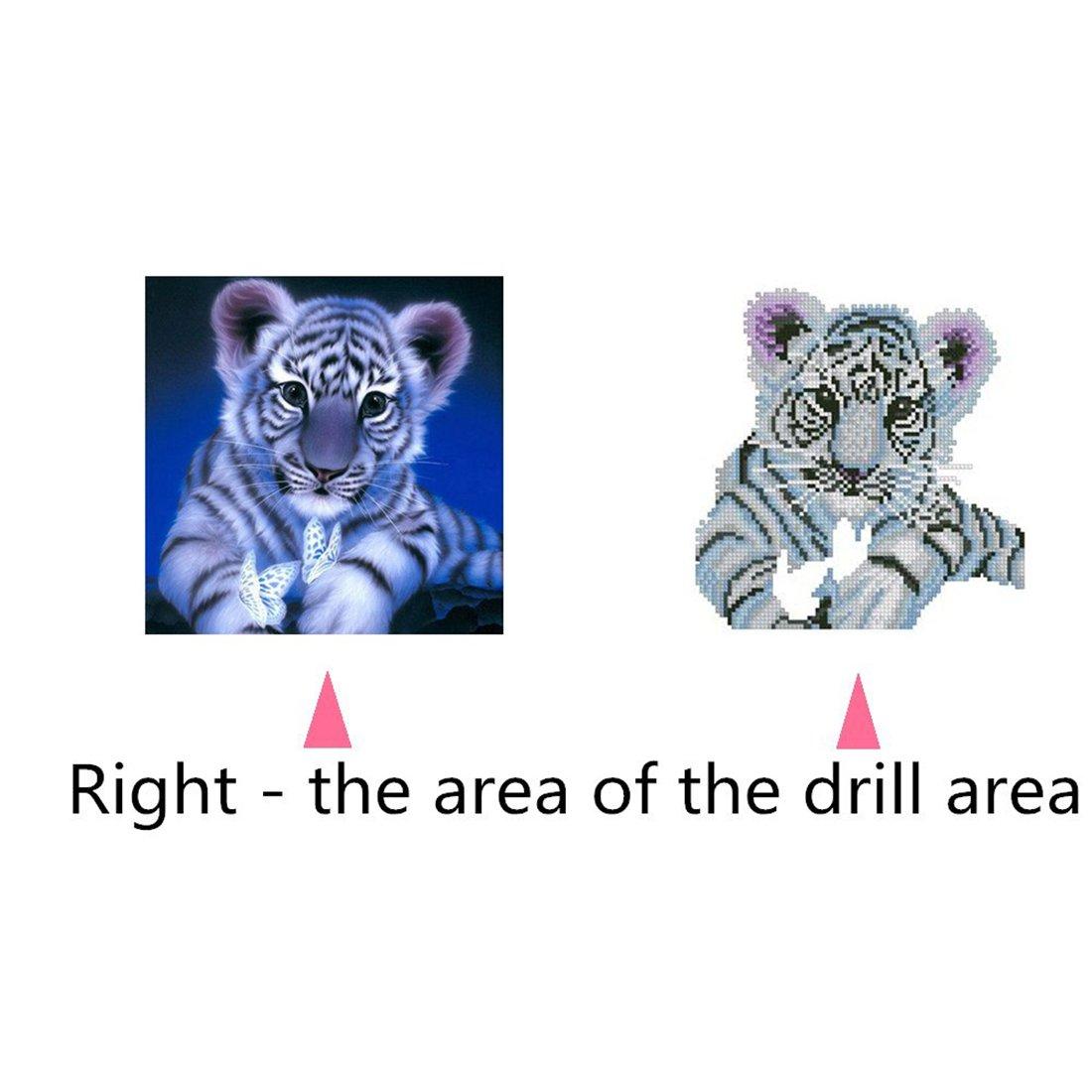 Tiger Patrón Diamante pintura bordado DIY completo cuadrado juego de ...