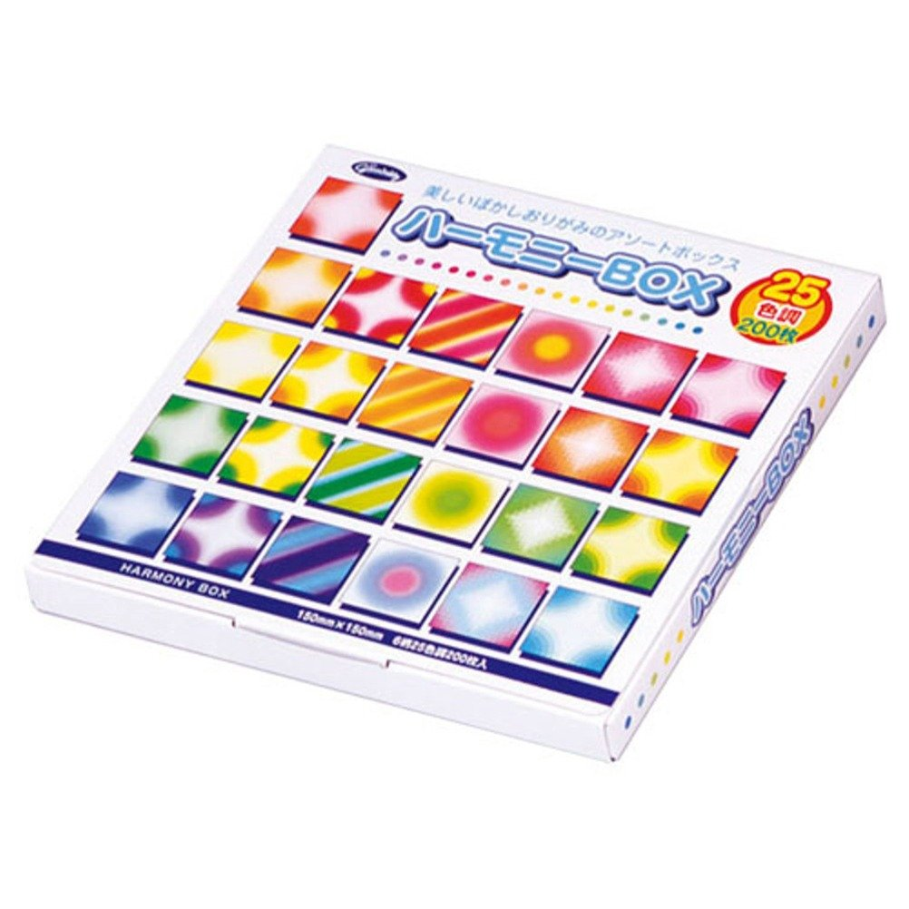 Aitoh Harmony Box Carta Origami, 6 fantasie, 200 fogli, 15cm x 15cm 23-1022