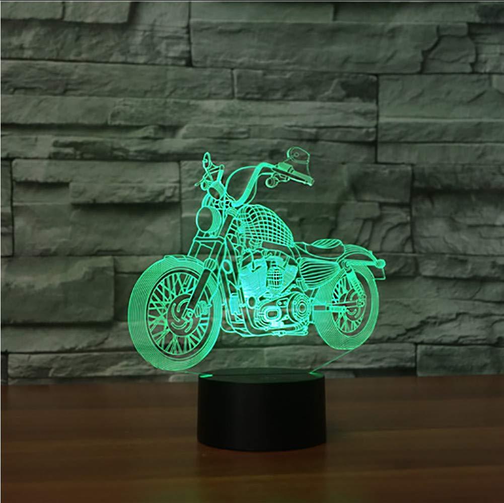 Motocicleta De Campo Traviesa 3D Luz De Noche 7 7 7 Cambio De Color Usb Led Lámpara De Mesa Atmósfera De Navidad Decoración Luminaria Para Niños Regalos Lbonb 1ed645