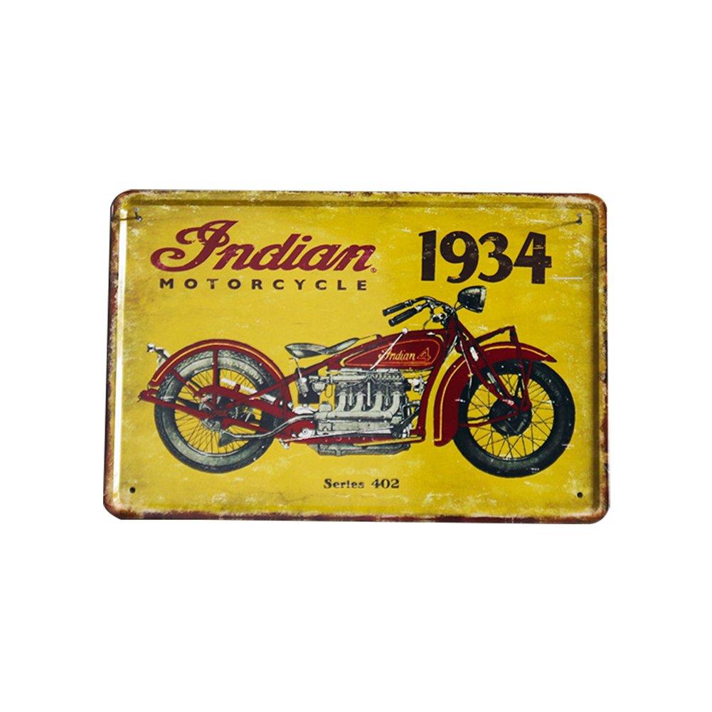 30CM Fablcrew 1Pcs Poster M/étallique Affiche Peinture Art D/écoratif Vintage Motif de Moto pour Bar Caf/é Pub 20