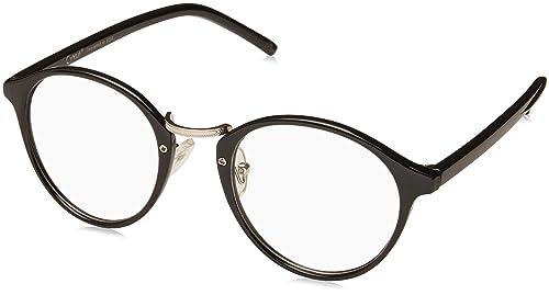 c6bad03d06af1 Cyxus vidrios ordinarios retro redondo marco  lentes transparentes  gafas  unisexo(hombres mujeres