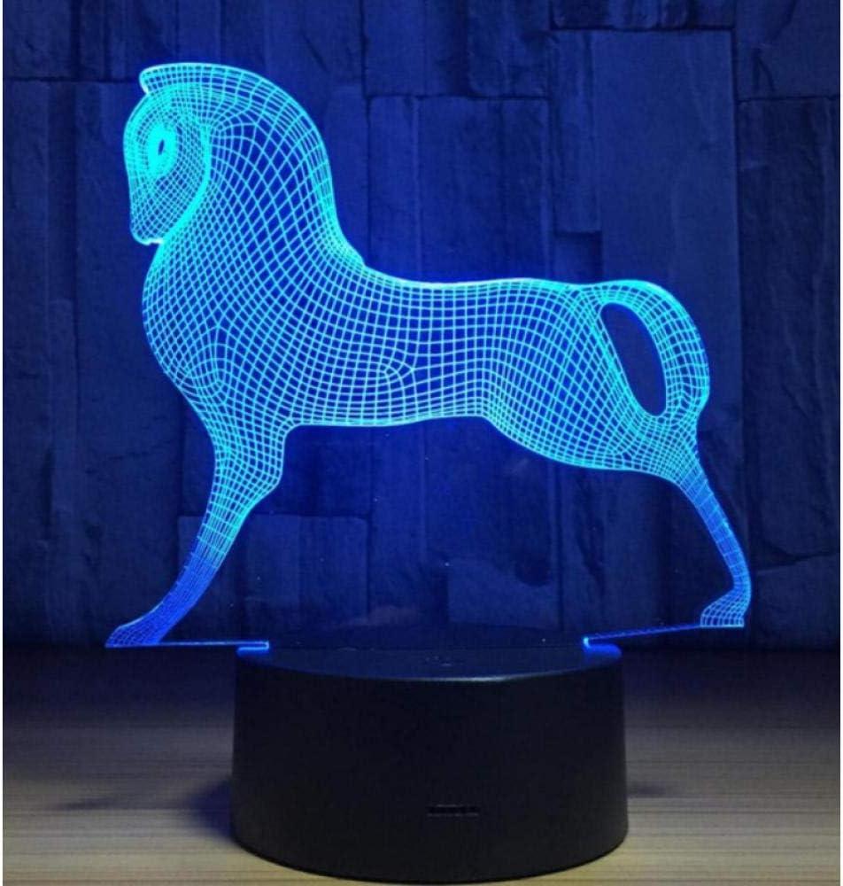 Zodiaco Chino animal s/ímbolo de 12 animales 3D l/ámpara 7 colores de luz nocturna rata buey tigre conejo Dragon caballo cabra perro cerdo regalo creativo