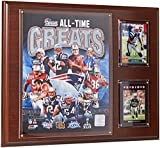 NFL New England Patriots All-Time Great Photo Plaque, 12x15-Inch