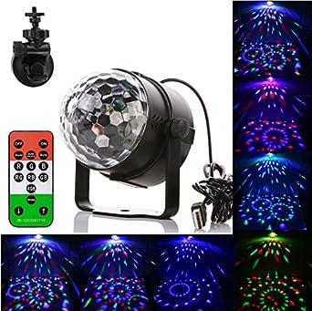 Gledto 3W USB LED Lampe de scène RGB DJ Disco Jeux de Lumière Commande  Sonore + 301ed49594f2