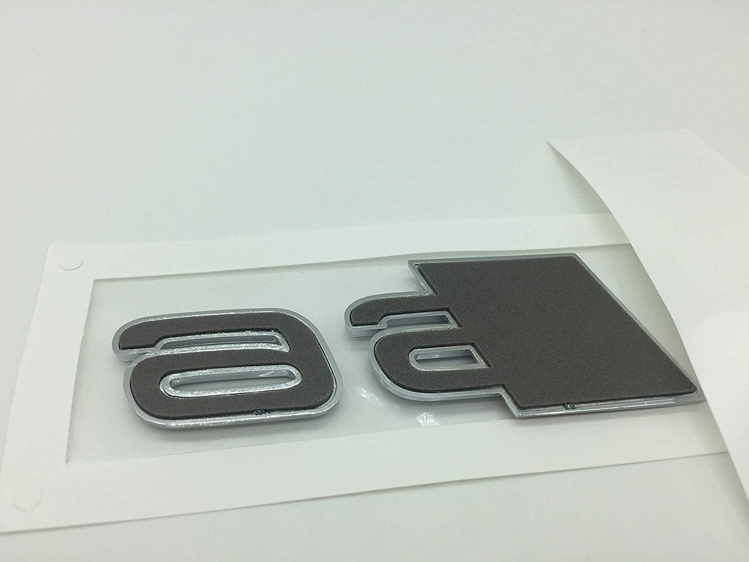 OEM ABS Nameplate compatible for Audi S 3 4 5 6 7 8 s3 S4 s5 s6 s7 s8 Chrome Silver Emblem 3D Trunk Logo Badge Compact S7