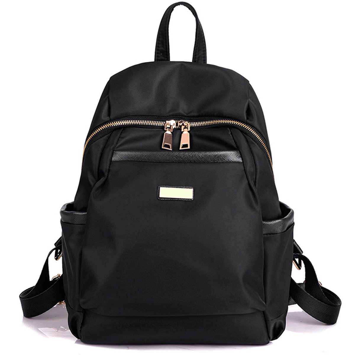 82694fc03158 Amazon.com  Nylon Water-resistant Backpack Bag - Top Handle Rucksack  Lightweight Durable Casual Fashion School Bag Purse for Womens Girls (Black)   Toys   ...