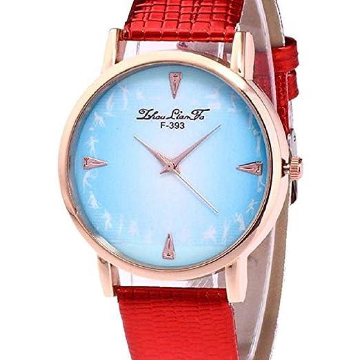 Scpink Relojes de Cuarzo para Mujeres, Liquidación analógica a la Venta Baile Pattren Relojes de