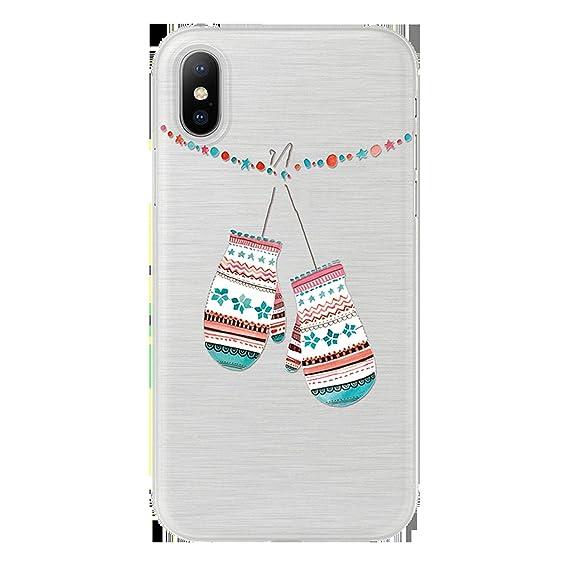 Amazon.com: Christmas Snowflake Soft TPU Cover for iPhone X ...