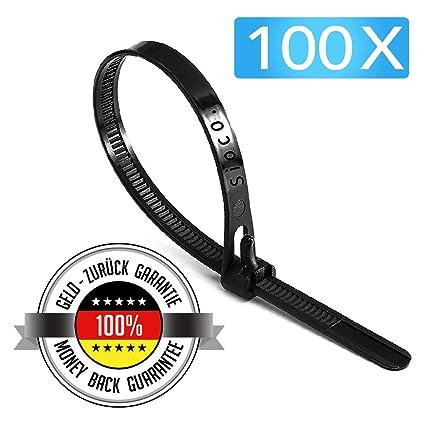 200mm Zip Ties 100mm 300mm Strong Heavy Duty Black Cable Ties Tie Wraps