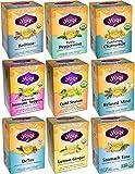 Yogi Tea Herbal Wellness 9 Flavor Variety Pack (Pack of 9, 144 Tea Bags Total)