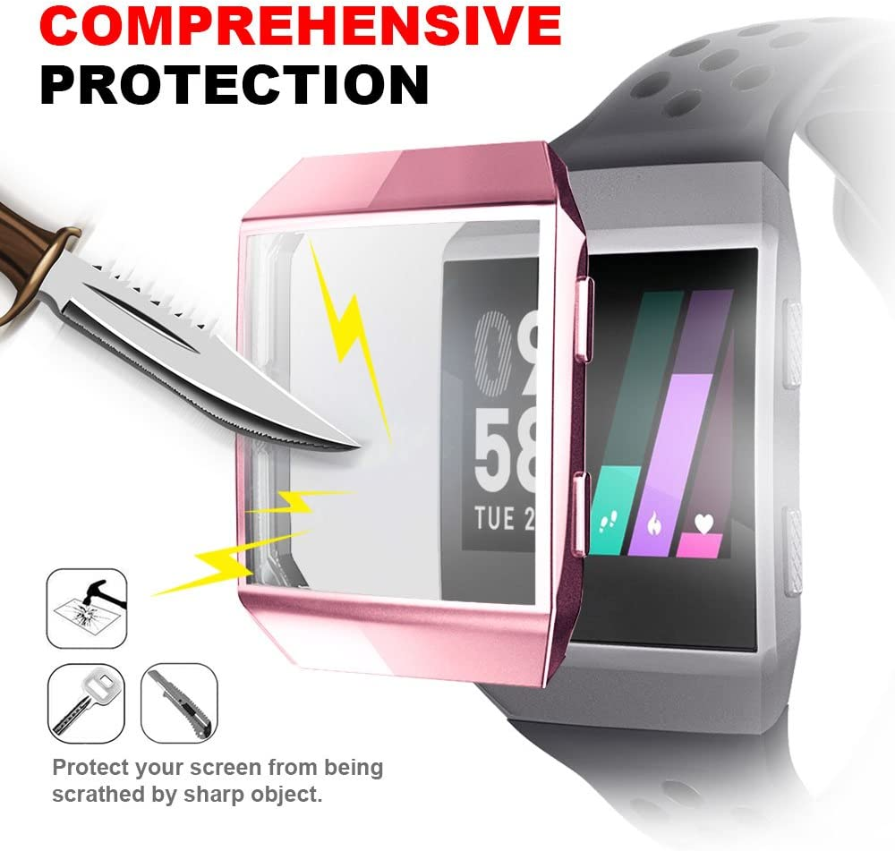 Fitbit Ionic Screen Protector Case, Cuteey TPU All-Around Protective Case Ultra-Thin Cover for Fitbit Ionic Smart Watch