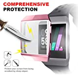 Fitbit Ionic Screen Protector Case, iHYQ TPU All-Around Protective Case Ultra-Thin Cover for Fitbit Ionic Smart Watch (Pinkgold)