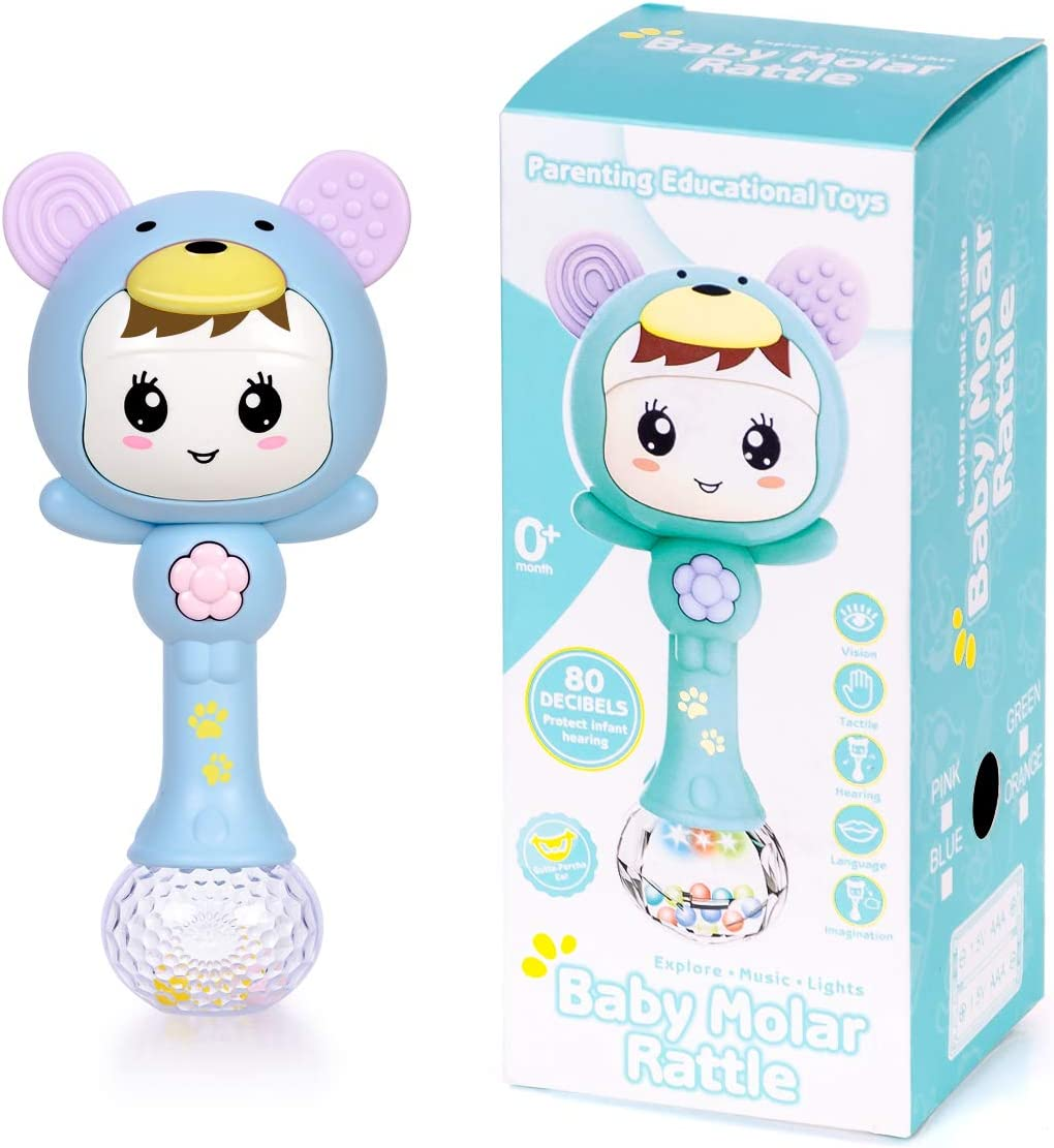 Highttoy Early Educational Musical Rattle Teething Toy for Baby Toddler-Hot Gift