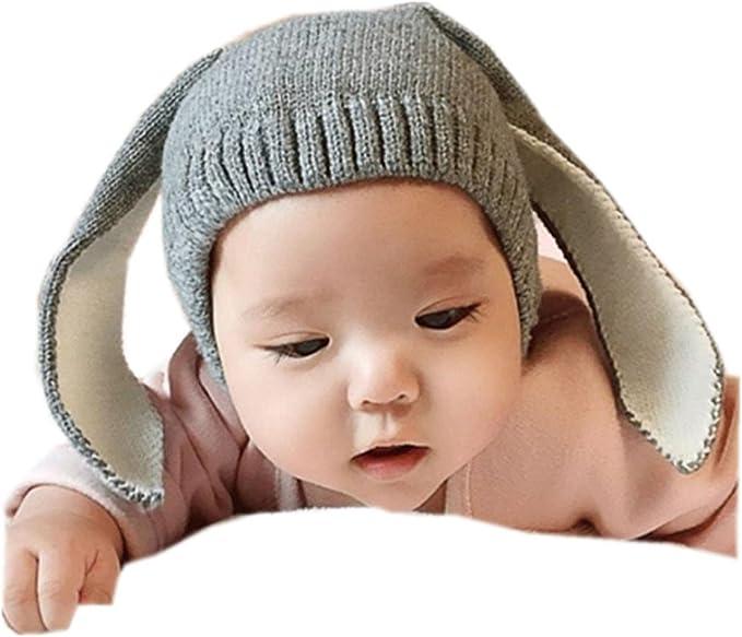 Dragon868 Gorras para bebé, Crochet de Punto de Conejo Oreja ...