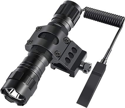 Feyachi FL11-MB Tactical Flashlight 1200 Lumen Matte Black LED Weapon Light...