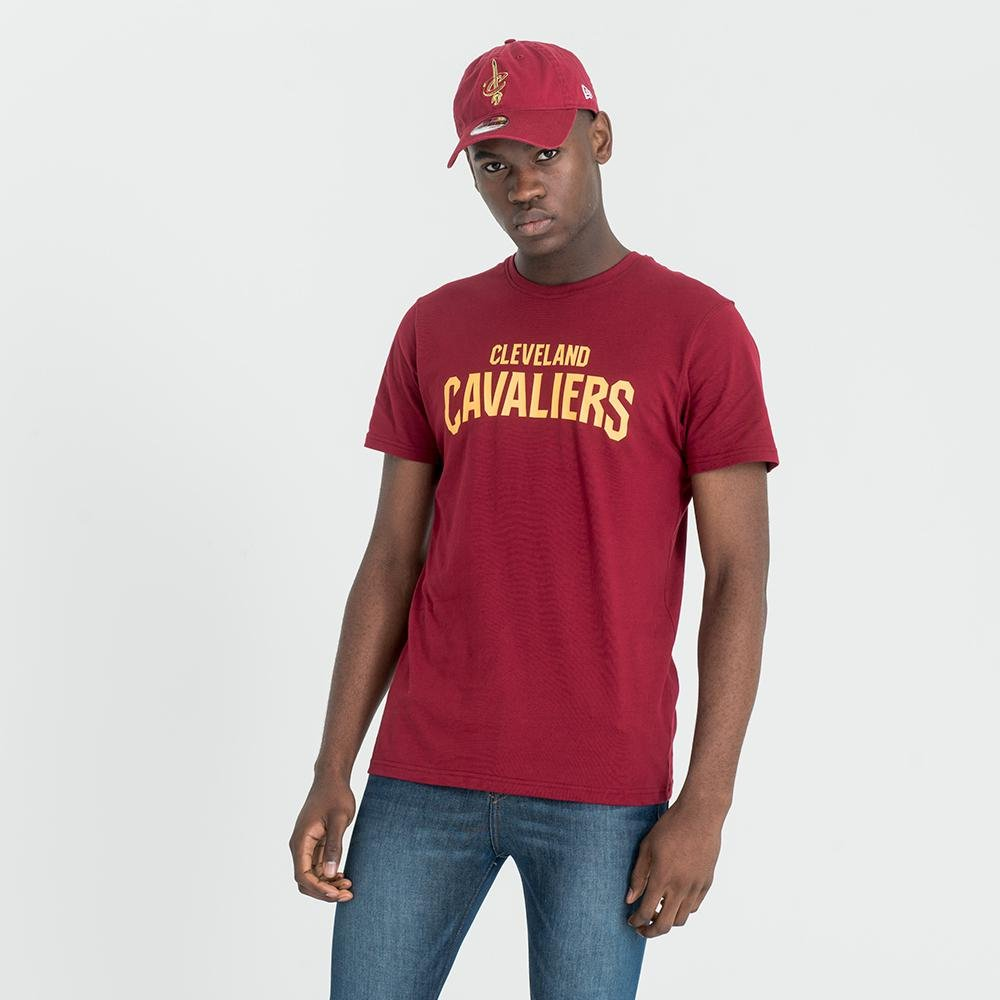 A NEW ERA ERA NBA Team Apparel Pop Logo Tee CLECAV – Maglietta Linea Cleveland Cavaliers, Unisex adulto, Multicolore (Car) 11569498