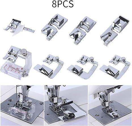 YICBOR - Juego de 8 prensatelas para máquina de coser compatible ...