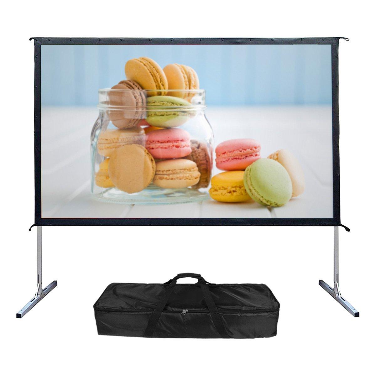 Mileagea Outdoor schermo 254cm 16: 94K Ultra HD Ready pieghevole portatile Movie Theater proiettore schermi ES-F25