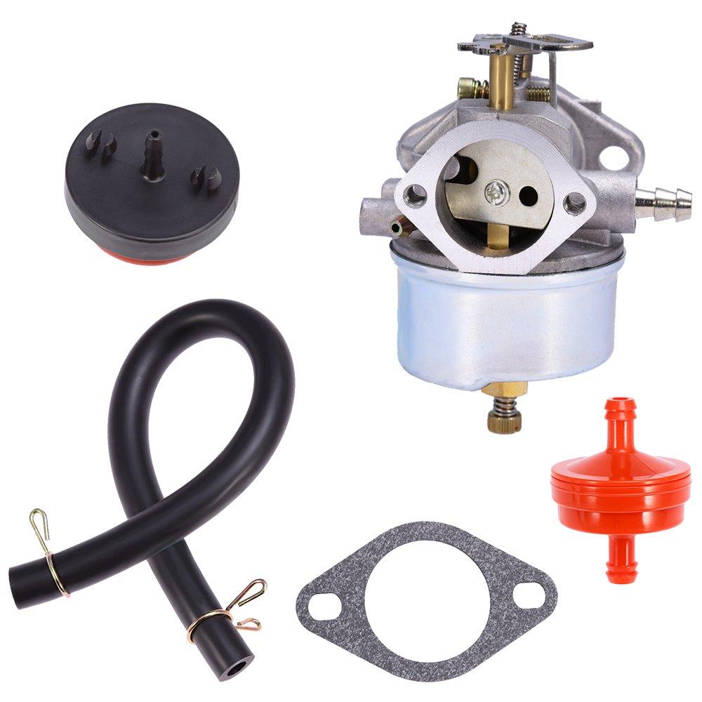 Anxingo Carburetor For Tecumseh 632334A 632234 632111 HM70 HM80 HMSK80 HMSK90 Engines Carb with Gasket Oil Filter Prime Bulbs