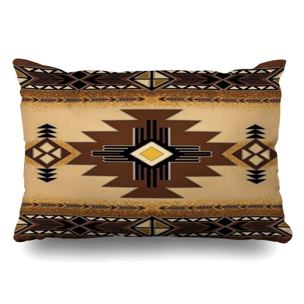 Ahawoso クッションカバー ネイティブアメリカン バッファロー ●手数料無料!! スカル 矢じり インディアン 部族 新商品 新型 装飾 枕カバー ホームデコレーション 16x24インチ W 16\ L Rectangular 16
