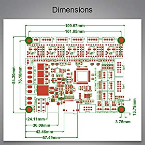 BIQU 3D Printer Part SKR V1.3 32bit Control Board Smoothieboard&Marlin Open Source Compatible with Ramps1.4/1.5/1.6 Support A4988/8825/TMC2208/TMC2100 Drivers(Pre-Sale,Limited Quantity)