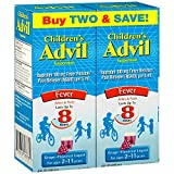 Advil Children's Fever Reducer/Pain Reliever, 100mg Ibuprofen (Grape Flavor Oral Suspension, 4 fl. oz. Bottle, Pack of 2)