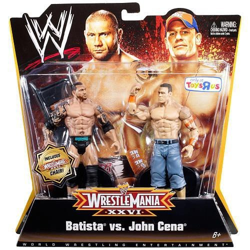 Mattel WWE Wrestling Exclusive Wrestle Mania XXVI Action Figure 2Pack Batista John Cena (Wwe Batista Vs John Cena Wrestlemania 26)