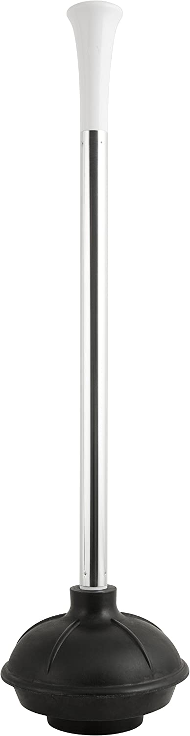 Black//Polished Kleen Freak 3010000 Antibacterial GERM GUARD Toilet Plunger with Aluminum Handle and Maximum Plunging Power