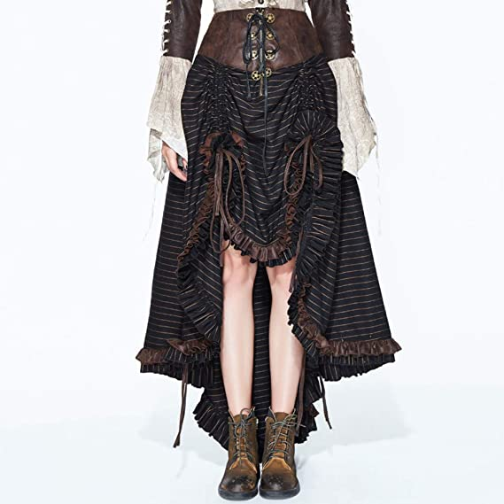 GYYWAN Faldas De Rayas De Mujer Punk Gothic Slim Faldas ...