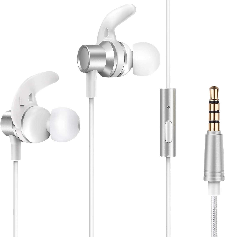Earbuds Ear Buds in Ear Headphones Wired Earphones with Microphone Mic Stereo and Volume Control Waterproof Wired Earphone MUEY002