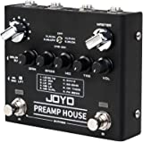JOYO PreAmp House Dual Channel Preamp Simulator Cabinet Simulation Effect Pedal Features Clean and Distortion Channel for Electric Guitar (R-15)