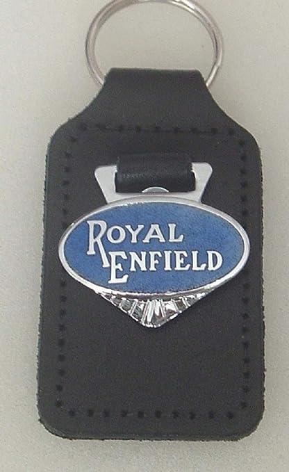Desconocido Royal Enfield - Llavero de Piel esmaltada ...