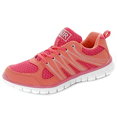 f8c3867e3464 Sprint Air Tech Running Fashion Trainers Coral 4 UK  Amazon.co.uk ...